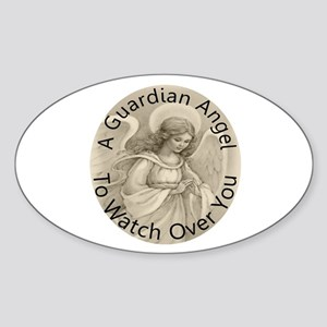 Guardian Angel Sticker (Oval)