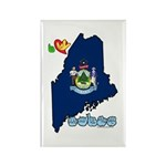 ILY Maine Rectangle Magnet (100 pack)