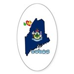 ILY Maine Sticker (Oval 10 pk)