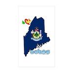 ILY Maine Sticker (Rectangle 10 pk)