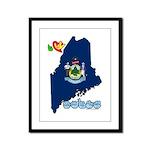 ILY Maine Framed Panel Print