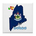 ILY Maine Tile Coaster