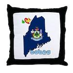 ILY Maine Throw Pillow