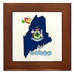 ILY Maine Framed Tile