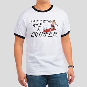 Ride A Surfer Ringer T