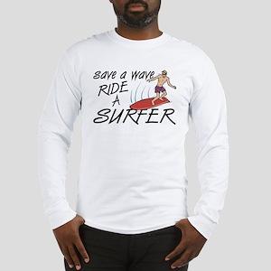 Ride A Surfer Long Sleeve T-Shirt