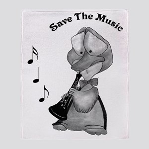 Save the Music Throw Blanket