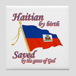 Haitian by birth Tile Coaster
