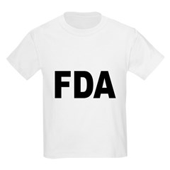 FDA Food and Drug Administration (Front) Kids T-Sh