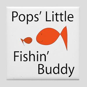 Pops' Little Fishin' Buddy Tile Coaster