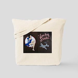 Lucky Strike Nose Art Tote Bag