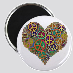 Cool Peace Sign Heart Magnet