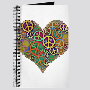 Cool Peace Sign Heart Journal