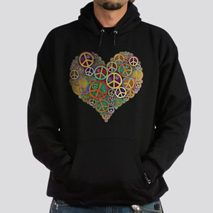 Cool Peace Sign Heart Hoodie (dark)