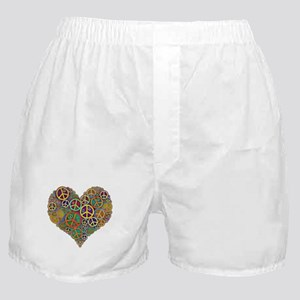 Cool Peace Sign Heart Boxer Shorts