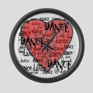 Funky Dance by DanceShirts.com Large Wall Clock