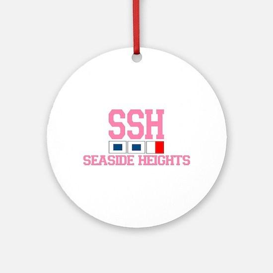 Seaside Heights NJ - Nautical Flags Design. Orname