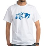 Snow Mountains White T-Shirt