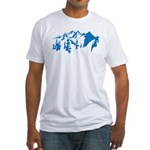 Snow Mountains Fitted T-Shirt