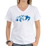 Snow Mountains Women's V-Neck T-Shirt