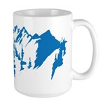 Snow Mountains Large Mug