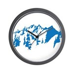 Snow Mountains Wall Clock
