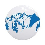 Snow Mountains Ornament (Round)