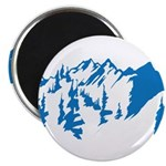 Snow Mountains Magnet