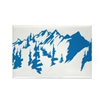Snow Mountains Rectangle Magnet