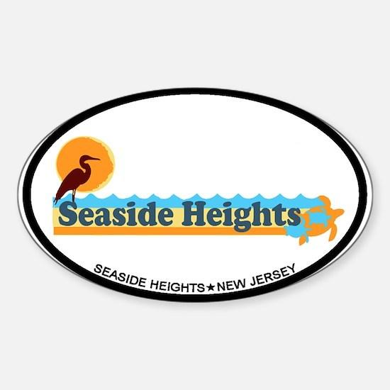 Seaside Heights NJ - Beach Design Sticker (Oval)