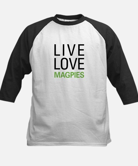 Live Love Magpies Kids Baseball Jersey