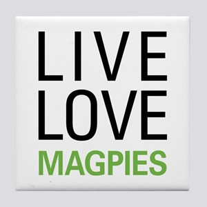 Live Love Magpies Tile Coaster