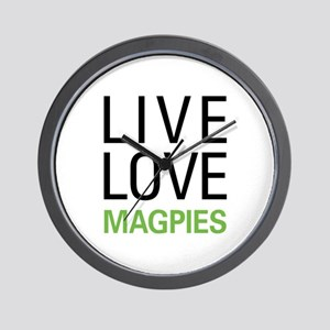 Live Love Magpies Wall Clock