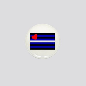 Leather Pride Flag Mini Button