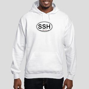Seaside Heights NJ - Sand Dollar Design Hooded Swe