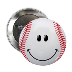 Baseball Smiley Face 2.25