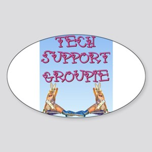 Tech Groupie Oval Sticker