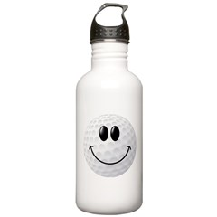Golf Ball Smiley Face Water Bottle