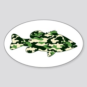 CAMO BASS Sticker (Oval)