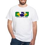 Brazilian flag colours BJJ White T-Shirt