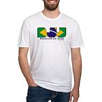 Brazilian flag colours BJJ Fitted T-Shirt