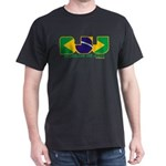 Brazilian flag colours BJJ Dark T-Shirt