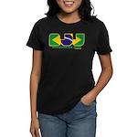 Brazilian flag colours BJJ Women's Dark T-Shirt