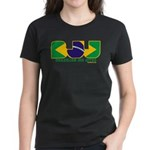 Brazilian flag colours BJJ Women's Dark T-Shirt