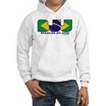Brazilian flag colours BJJ Hooded Sweatshirt
