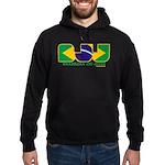 Brazilian flag colours BJJ Hoodie (dark)