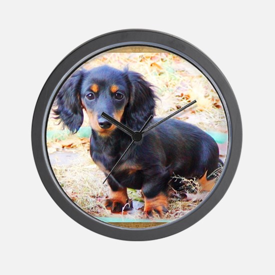 Puppy Love Doxie Wall Clock
