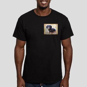 Puppy Love Doxie Men's Fitted T-Shirt (dark)