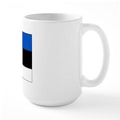 Estonia Estonian Blank Flag Large Mug