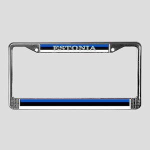 Estonia Estonian Blank Flag License Plate Frame